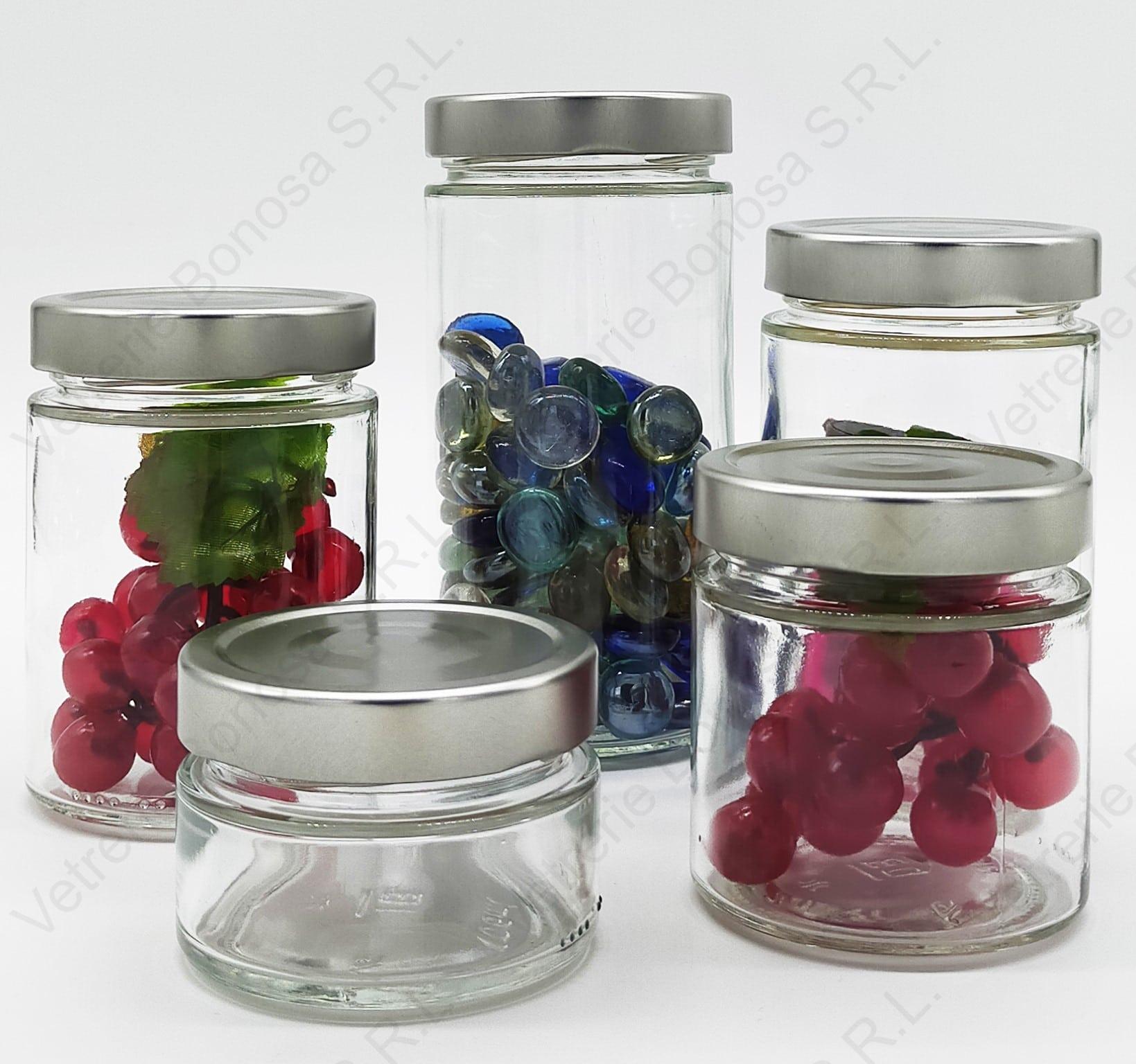 Un esempio dell'innovazione della nostra azienda, una confezione da 6 vasi con un tappo oro